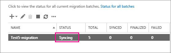 Micgration batch is syncing