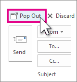 Reply Pop Out button in Reading Pane