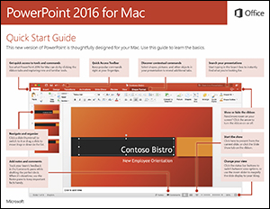 PowerPoint 2016 for Mac Quick Start Guide