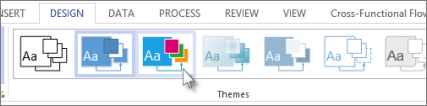 Theme gallery in Visio