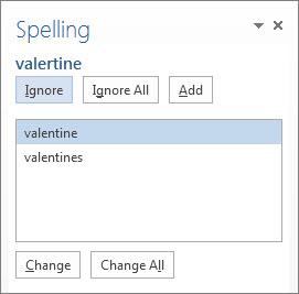 Spelling & Grammar taskpane