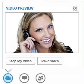 screen shot of the options that display when hovering on the video button