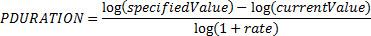 PDURATION equation