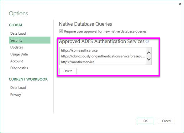 New ADFS authentication