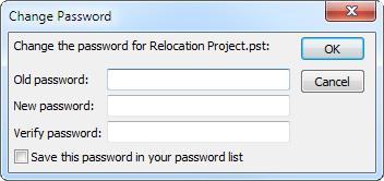 Change Password dialog box