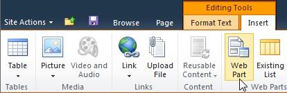 Web Part command