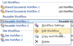 Edit Workflows