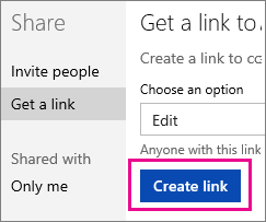Create an Edit link