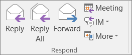 Respond group on the ribbon