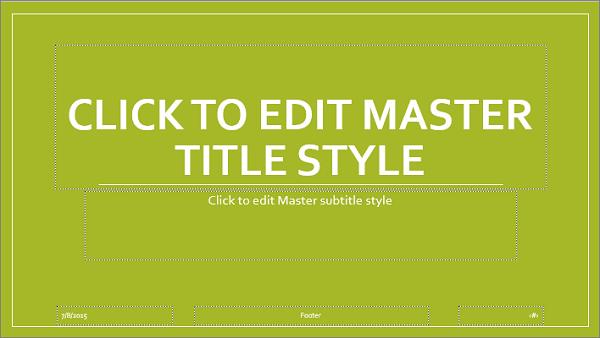 slide master layout in powerpoint