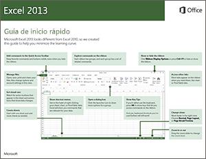 Guía de inicio rápido de Excel 2013