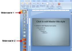 Dos patrones de diapositivas con diseños asociados