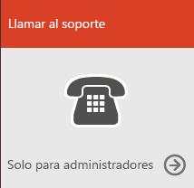 Llamar a soporte técnico (solo para el administrador)