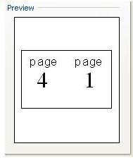Vista previa de configuración de impresión de folleto