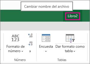 Cambiar el nombre de un archivo