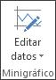 Botón Editar datos en el grupo Minigráfico