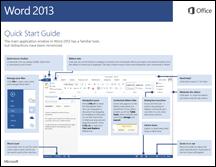Guía de inicio rápido de Word 2013