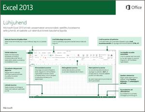 Excel 2013 lühijuhend