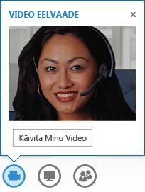 Kiirsõnumis video käivitamise kuvatõmmis