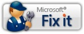 Microsoft Fix it button