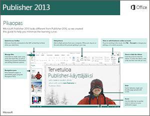 Publisher 2013 -pikaopas