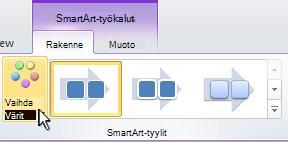 SmartArt-kuvan värien muuttaminen.