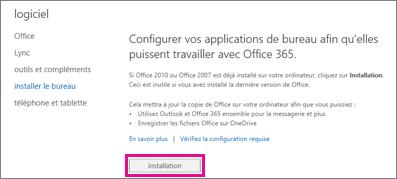 Configurer vos applications de bureau pour fonctionner avec Office365