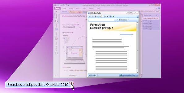 Exercice pratique OneNote2010