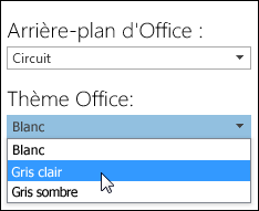 Choisir un autre thème Office