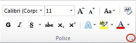 font dialog box launcher
