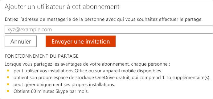 Capture d'écran de la boîte de dialogue «Ajouter un utilisateur à cet abonnement».