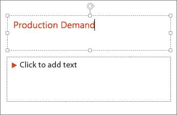 Ajout de texte à un champ de texte dans PowerPoint