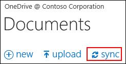 अपने कंप्यूटर पर व्यवसाय के लिए OneDrive या साइट लाइब्रेरी सिंक्रनाइज़ करना