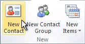 Naredba Novi kontakt na vrpci