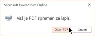 Vaš PDF jest spreman