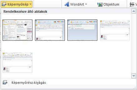 A Képernyőkép parancs