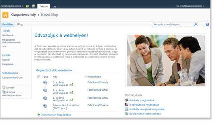 SharePoint-alapú csoportwebhely