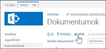 Webhelytár szinkronizálása