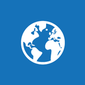 Csempeikon: földgömb, amely a nyilvános webhelyre utal