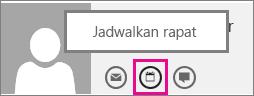 Tombol menjadwalkan rapat di Outlook Web App