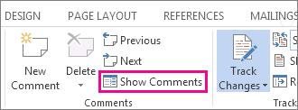 Perintah perlihatkan Komentar
