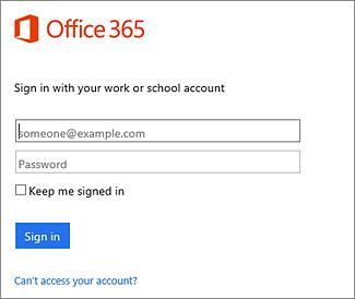 halaman masuk portal.office.com