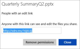 Menyalin URL yang disingkat untuk dibagikan kepada orang lain