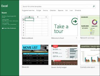 Alcuni modelli disponibili in Excel