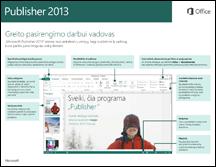 """""""Publisher 2013"""" greito pasirengimo darbui vadovas"""