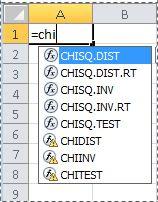 Excel 2010 funkcijos