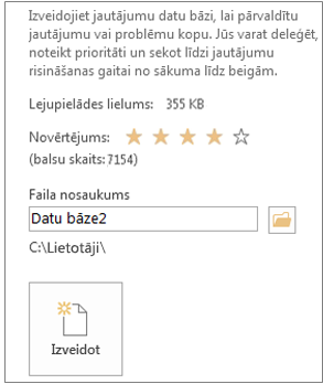 Create an Access desktop database from a template