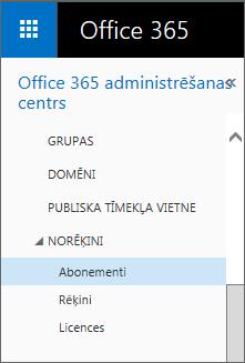 Saite uz lapu Abonementi pakalpojumā Office365 Small Business Premium.