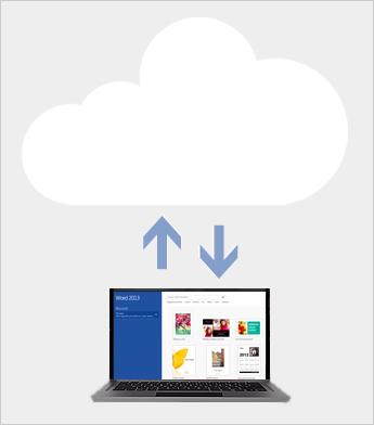 Menyimpan dan berkongsi fail dalam awan