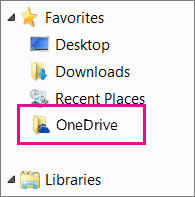 Folder OneDrive dalam Windows Explorer